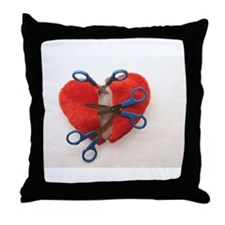 Open heart surgery Throw Pillow