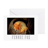 Unique Desert fox Greeting Cards (Pk of 10)