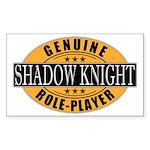 Genuine Shadow Knight Gamer Rectangle Sticker