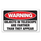 Astro-Warning Rectangle Decal