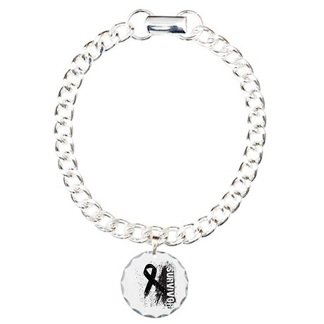 Survivor Skin Cancer Charm Bracelet, One Charm