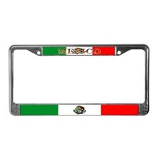 Mexico Mexican Blank Flag License Plate Frame