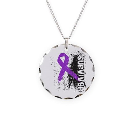 Survivor Leiomyosarcoma Necklace Circle Charm