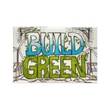 Build Green Rectangle Magnet