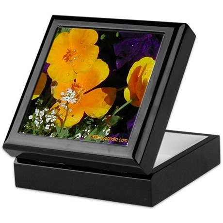 Poppy Bouquet Keepsake Box