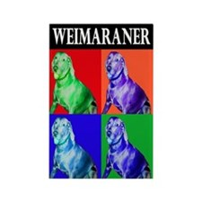 Unique Weimaraners Rectangle Magnet