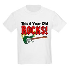 This 6 Year Old Rocks T-Shirt