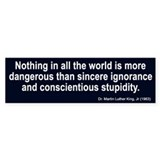 sincere ignorance... Bumper Car Sticker