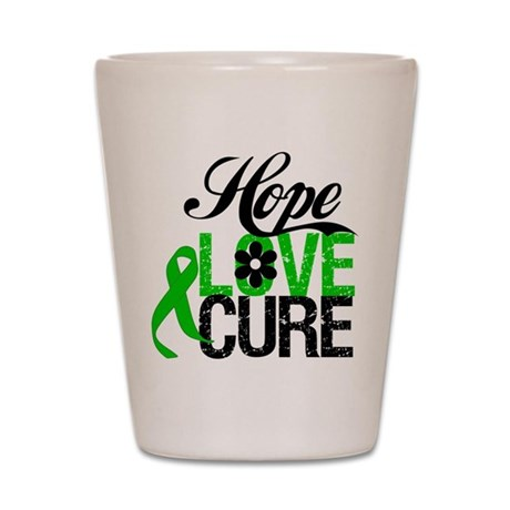 SCT Hope Love Cure Shot Glass