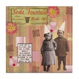 """Soda Fountain"" Tile Coaster"