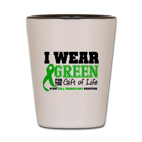 SCT I Wear Green Shot Glass