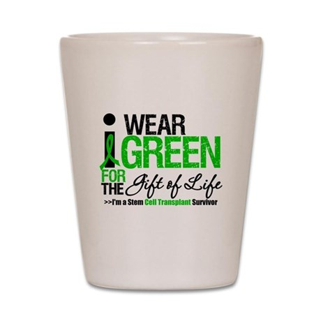 I Wear Green SCT Survivor Shot Glass