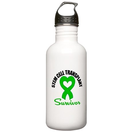 SCT Survivor Heart Ribbon Stainless Water Bottle 1