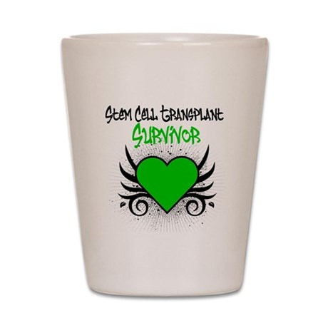 SCT Survivor Grunge Heart Shot Glass