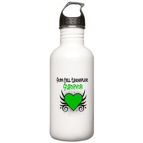 SCT Survivor Grunge Heart Stainless Water Bottle 1