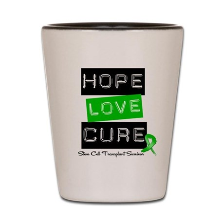 SCTSurvivor HopeLoveCure Shot Glass