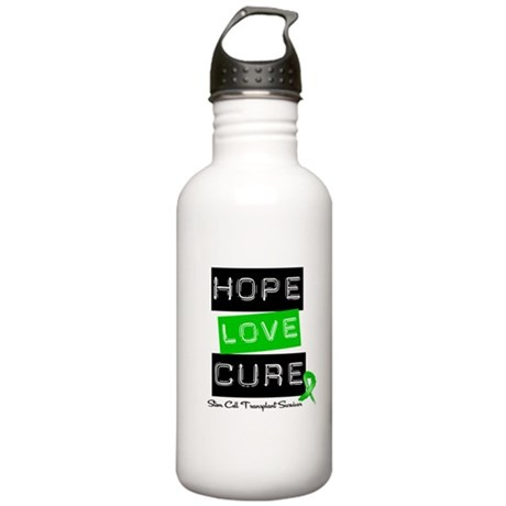 SCTSurvivor HopeLoveCure Stainless Water Bottle 1.
