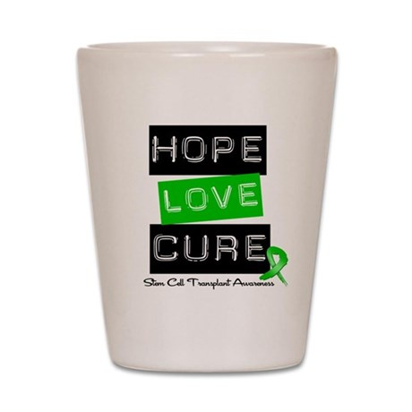 SCT Survivor Heart Ribbon Shot Glass