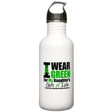 I Wear Green For My Daughter Water Bottle