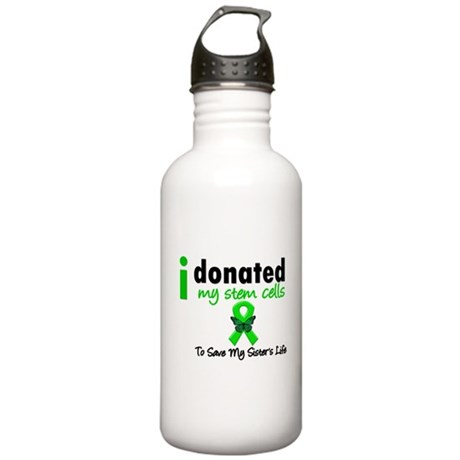 Stem Cell Donor to Sister Stainless Water Bottle 1