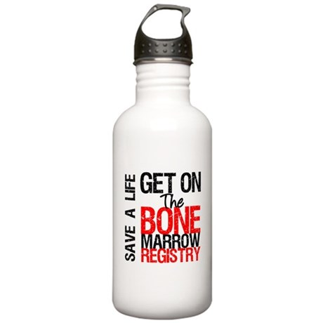 GetOnThe Bone Marrow Registry Stainless Water Bott
