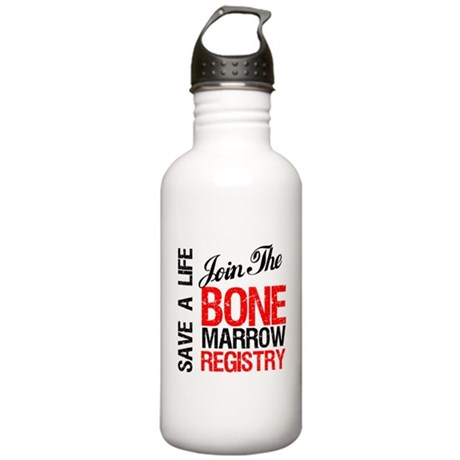 JoinTheBoneMarrowRegistry Stainless Water Bottle 1