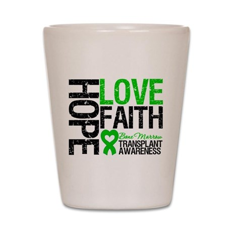BMT Hope Love Faith Shot Glass