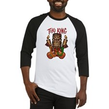 The Tiki King crossed Ukes Logo. Baseball Jersey