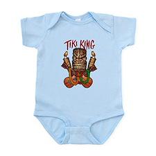The Tiki King crossed Ukes Logo. Infant Bodysuit