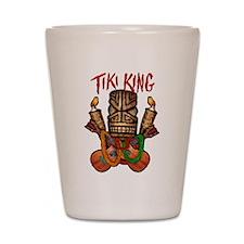 The Tiki King crossed Ukes Logo Shot Glass
