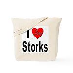 I Love Storks Tote Bag