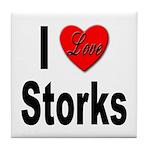 I Love Storks Tile Coaster