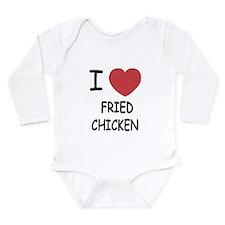 I heart fried chicken Long Sleeve Infant Bodysuit