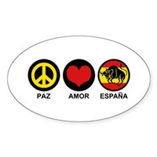 Paz Amor Espana Decal