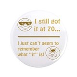 "Funny Faces 70th Birthday 3.5"" Button"