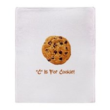 """C"" Is For Cookie Throw Blanket"