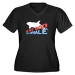 It's a Whale Women's Plus Size V-Neck Dark T-Shirt