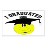 I Graduated Rectangle Sticker