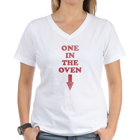 One In The Oven Womens V-Neck T-Shirt