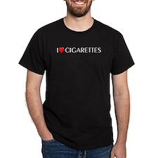 I Love Cigarettes Black T-Shirt