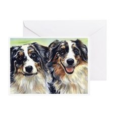 Cute Australian shepherds Greeting Card