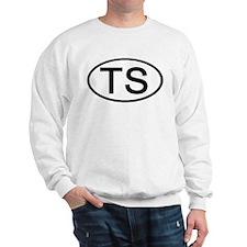 TS - Initial Oval Sweatshirt