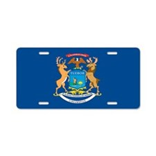 Michigan State Flag Aluminum License Plate