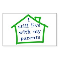 I still live with my parents - boy Decal