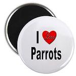 I Love Parrots Magnet