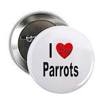 I Love Parrots Button