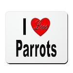 I Love Parrots Mousepad