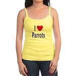 I Love Parrots Jr. Spaghetti Tank