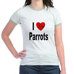 I Love Parrots Jr. Ringer T-Shirt