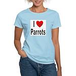 I Love Parrots Women's Pink T-Shirt